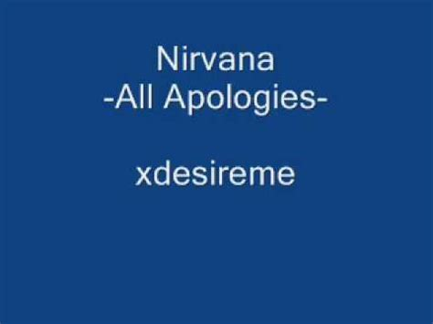 apologise testo all apologies nirvana musica e