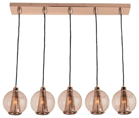 Arteriors DK89918 Caviar Fixed Linear Rose Gold Rose Pendant Contemporary Pendant Lighting