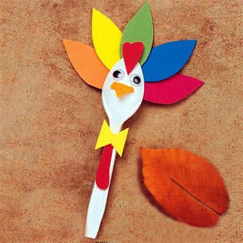 turkey craft thanksgiving turkey spoon craft live outside the box