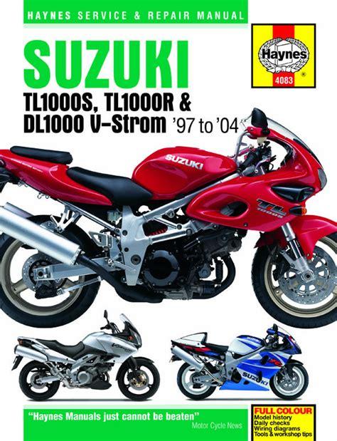 Suzuki Haynes Manual Haynes Manual 4083 Suzuki Tl1000s Tl1000r Dl1000 V