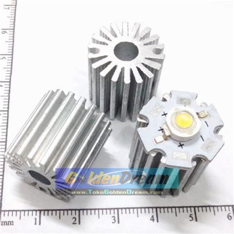 Jual Radiator Aluminium Tinggi 20mm Pendingin Led 1w 3w Tambahan Untu jual radiator aluminium tinggi 20mm pendingin led 1w 3w