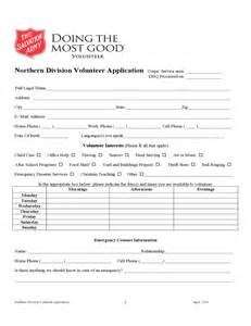Salvation Army Donation Receipt Template by Salvation Army Volunteer Application Form Sle Free