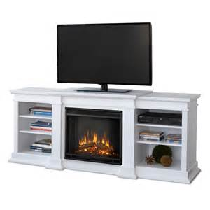 real fresno electric fireplace in white
