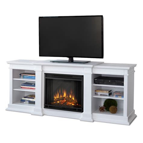 Electric Fireplace White Real Fresno Electric Fireplace In White