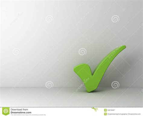 Green Check No Background Green Check On Empty White Wall Royalty Free Stock Photography Image 34278497