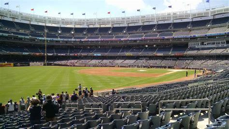 section 107 yankee stadium field level outfield yankee stadium baseball seating