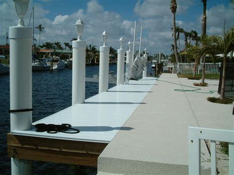 boat lift deck concrete cap plastic decking pvc pilings 14k lb