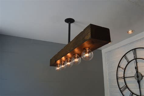 Reclaimed Wood Light Fixture by Reclaimed Wood Chandelier Light Fixture Farm Light