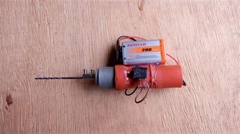 Bor Mini cara membuat bor mini mudah dan kreatif