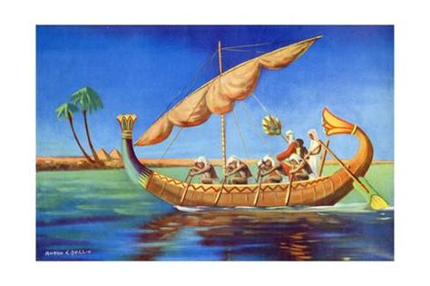 types of boats used in ancient egypt reed boat of ancient egypt giclee print at allposters