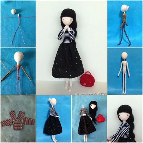 How To Make A Paper Doll Dress - 17 best ideas about diy doll on felt dolls