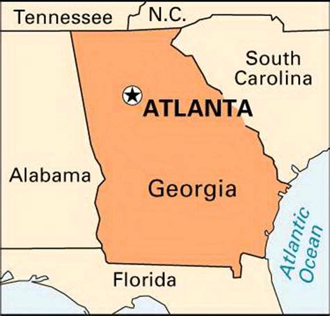 atlanta on the map atlanta encyclopedia children s homework help