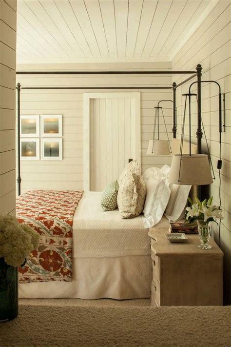 farmhouse bedroom  shiplap walls rustic master