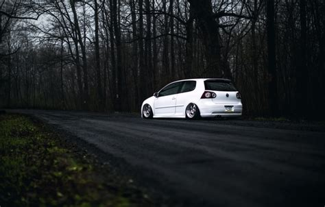 wallpaper volkswagen white golf gti stance mk images