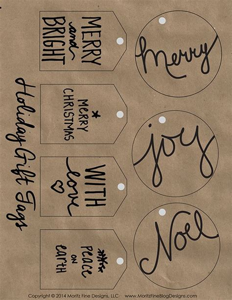 printable kraft paper gift tags 729 best images about printable labels and tags on