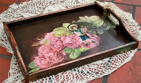 Decoupage A Tray - decoupage tray p 邃ッ 竓 豢 竓アtrays竓ー