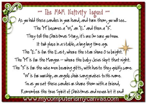 printable christmas stories my computer is my canvas m m nativity legend recipe and