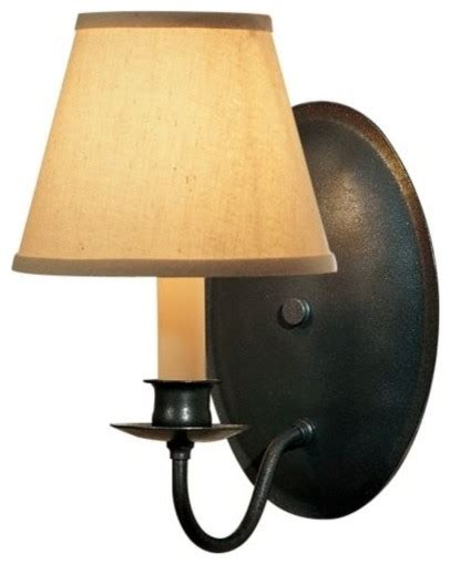 Sconces With Shades single light on oval back wall sconce with shade by hubbardton forge contemporary wall