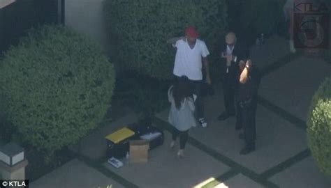 Getting Property Back After Search Warrant Chris Brown Is Led Away After Being Arrested On Suspicion Of Assault With A Deadly