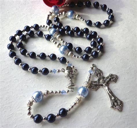 rosary for boys boys communion rosary baptism gift swarovski