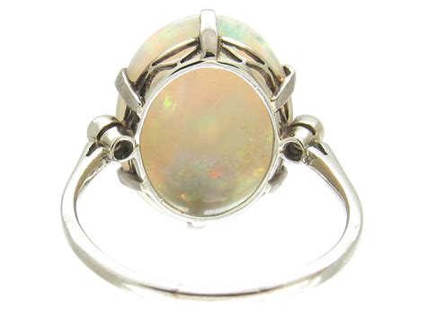 harlequin opal ring the antique jewellery company