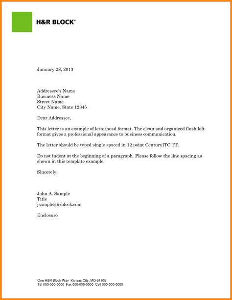 Business Letter Template With Logo business letter with logo theveliger