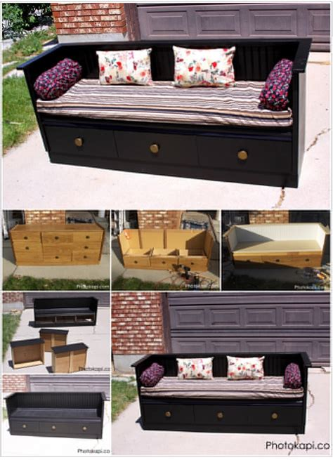 turn a dresser into a bench turn an old dresser into an awesome bench step by step