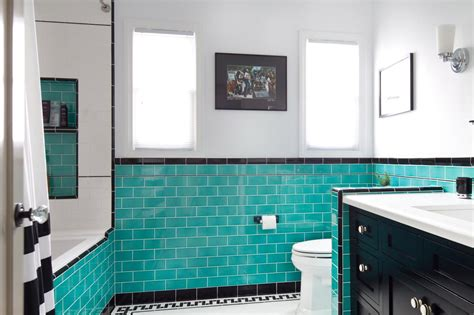 white and teal bathroom photos hgtv