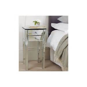 Mirrored Bedside Table Mirrored 2 Drawer Bedside Table