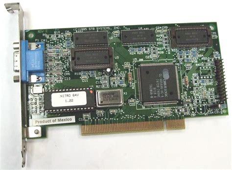 Vga Pci 1x0 0376 009 stb systems nitro 64v 1 22 pci vga display adapter card ebay