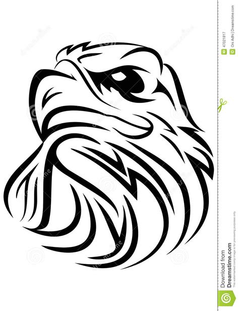 eagle head tribal stock illustration image 47021817