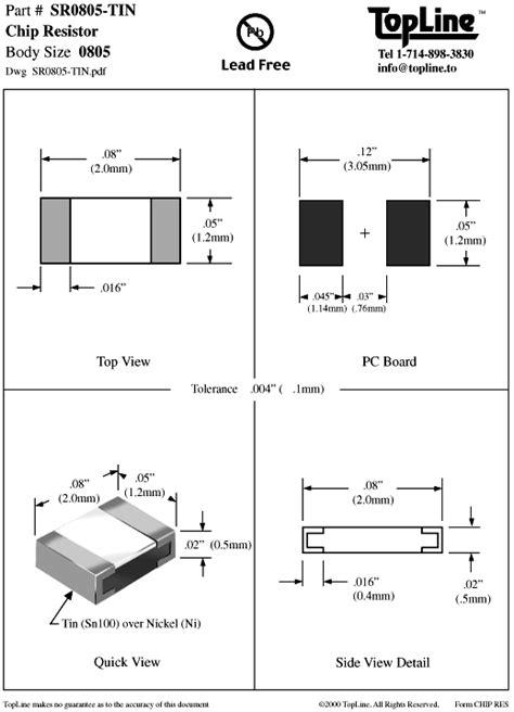 0805 resistor mass chip resistors
