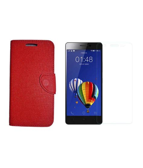 Temperd Glass Color Lenovo P70a lenovo k3 note synthetic leather flip cover and