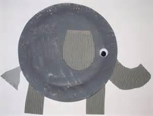 Paper Plate Elephant Craft » Home Design 2017