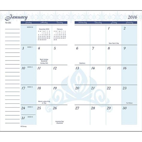 free printable pocket monthly calendar 2016 calendar