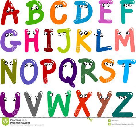 lettere alfabeto divertenti alfabeto divertente delle lettere maiuscole fotografia