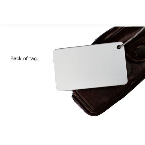 Promo Name Tag Id Tas Koper Aluminum Metal Travel Luggage Bags Tag Bla name tag id tas koper aluminium black jakartanotebook