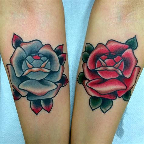 blue and red rose tattoo school blue www imgkid the image