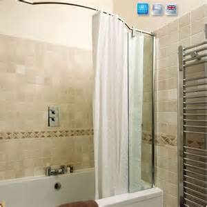 over bath shower screen kudos ultimate over bath shower panel amp curved rail uk