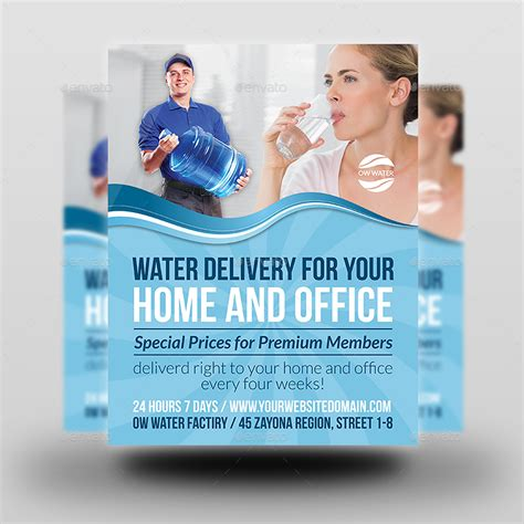delivery drinking water service flyer by owpictures