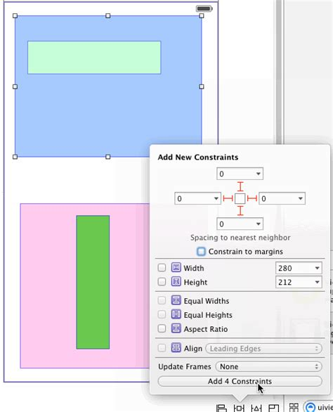 auto layout half height scale to fit using autolayout