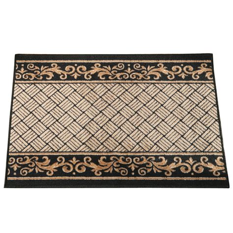 rug collections floral scroll basket weave skid resistant rug by collections etc ebay