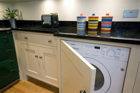 washing machine in kitchen design shaker painted kitchen knaresborough inglish design
