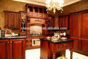 luxury wood kitchen cabinet set design factory modular