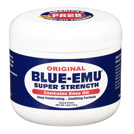 Blue Relief Balm blue emu original strength relieving
