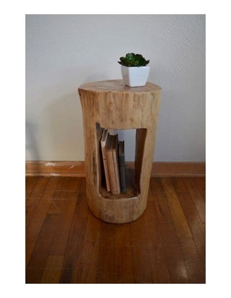 tree trunk bedside table tree stump side table tree stump end by