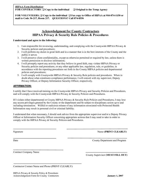 hipaa confidentiality agreement template 11 best images of faith agreement form faith
