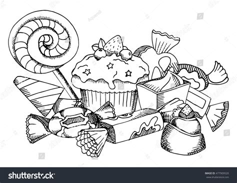 white food coloring vector black white food coloring book stock vector