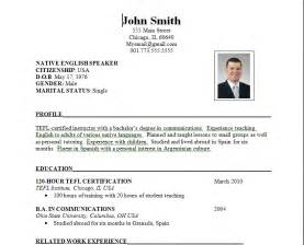 resume format in logistics - Need Resume Format