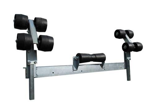 zelf boot trailer maken bootbegeleiding systeem dubbel verstelbaar voor elk type